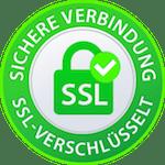SSL verschlüsselte Webseite. SSL-Zertifikat von Checkdomain.
